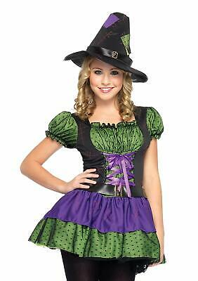 Hocus Pocus Witch Wicked Cute Gothic Fancy Dress Up Halloween Teen Costume