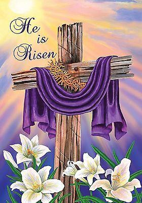 """Easter Cross Garden Flag Briarwood Lane 12.5"""" x 18"""""""