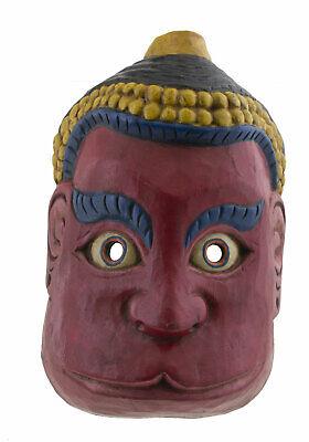 Mask Hat and Mitten Set Hanuman Monkey 23cm Himalayas-Animist Shaman Tibet Nepal
