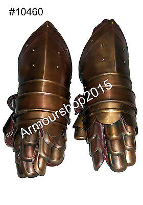 Halloween Party Costume Knight Armor Medieval Gauntlets Armour Metal Gloves New