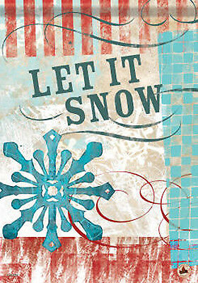 "Winter Carnival 'Let it Snow' Decorative Snowflake Garden Flag 13"" x 18"""