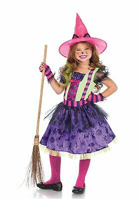 Girl Cat Costumes (Leg Avenue's Girl's Cat Witch Halloween Costume, Multicolor, X Small)