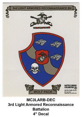 3rd Light Armored Recon Battalion, insignia decal/sticker (USMC Marines)