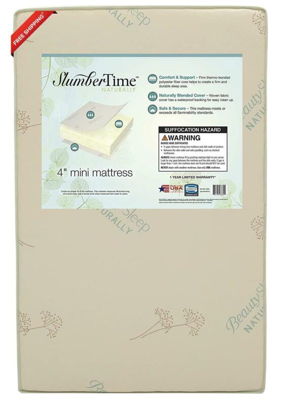 Simmons Kids Slumbertime Naturally 4-Inch Mini Crib Mattress