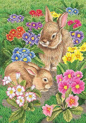 "Bunny Friends Easter Garden Flag Spring Briarwood Lane 12.5"" x 18"""
