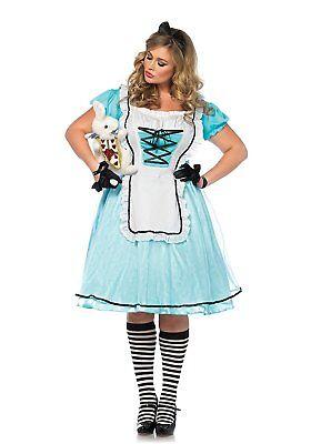 Tea Time Alice, Alice In Wonderland Costume, Plus Size 3X/4X Leg Avenue - Alice In Wonderland Halloween Costume Plus Size