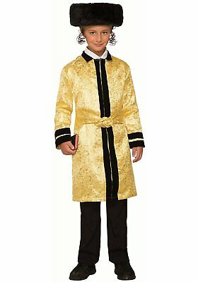 Bekitcha Gold Jewish Rabbi Bekishe Beketshe Fancy Dress Halloween Child - Rabbi Halloween Costume