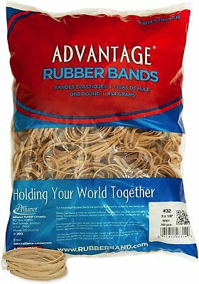 Alliance Rubber 26324 Advantage Rubber Bands Size 32 1 Lb Bag Contains Approx.