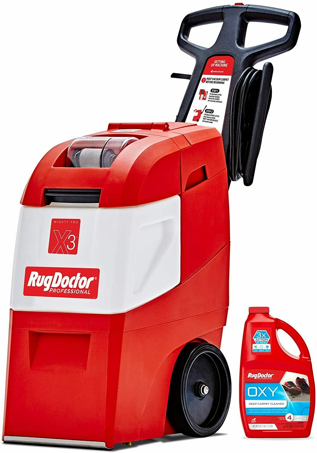NEW Rug Doctor Mighty X3 Commercial Carpet Cleaner, Large Re