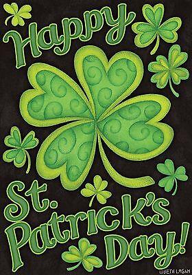 "Happy St. Patrick's Day Garden Flag Holiday Briarwood Lane 12.5"" x 18"""