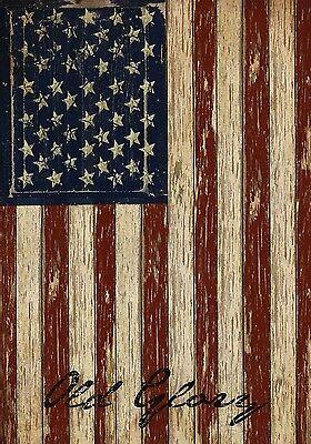 "Old Glory Patriotic Garden Flag Vintage American Flag 12.5"" x 18"""