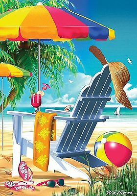 140A Lazy Beach Days Summer Shore Cocktails Large House Flag 28X40 Banner
