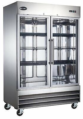 Saba Two Glass Door Reach-in Commercial Freezer S-47fg