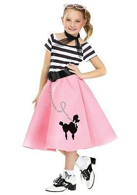 50's Soda Shop Sweetie Poodle Dress Child Costume
