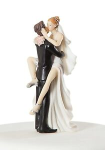 Funny Sexy Wedding Bride and Groom Cake Topper from All Things Weddings.