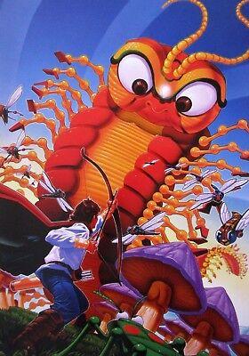 Vintage Atari Art Poster 2 Sided Millipede Star Raiders Arcade Game Man Cave
