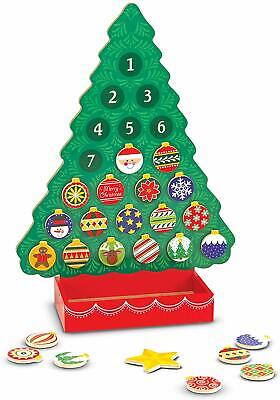 Melissa Doug Countdown to Christmas Wooden Advent Calendar Seasonal 25 Magnets