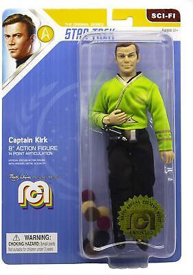 "Captain Kirk Green Shirt and Tribbles - Mego 8"" Action Figure - Star Trek"
