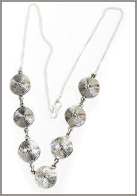 Necklace  made with Silver (925) in Spherical Discs