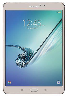 "Samsung Galaxy Tab S2 8.0"" 32GB Tablet 3GB Wi-FI 8mp SM-T713NZDEXAR Gold NEW"