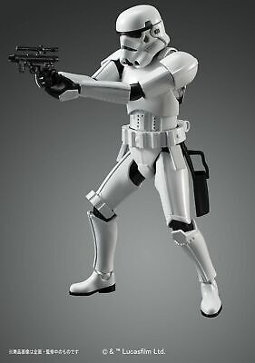 Bandai Hobby Star Wars Stormtrooper 1/12 Scale Model Kit Action Figure ()