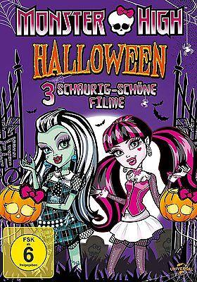 H - HALLOWEEN BOX - 3 SCHAURIG-SCHÖNE FILME # NEU OVP + (Filme Monster High Halloween)