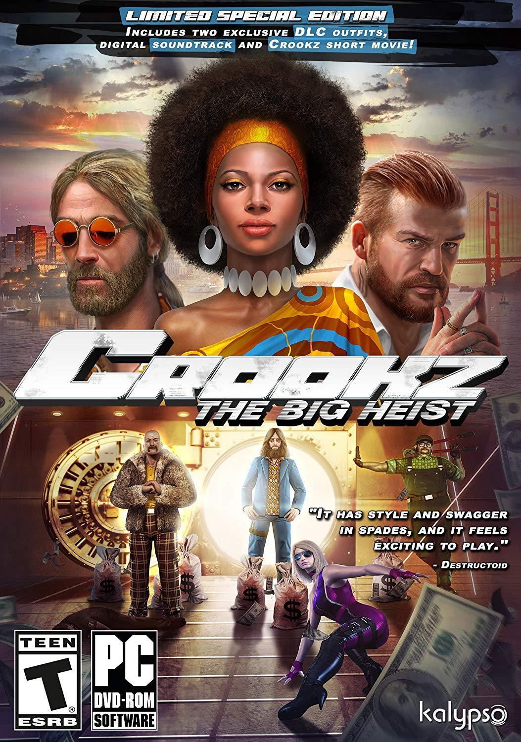 Computer Games - Crookz The Big Heist Limited Special Edition PC Games Windows 10 8 7 XP Computer