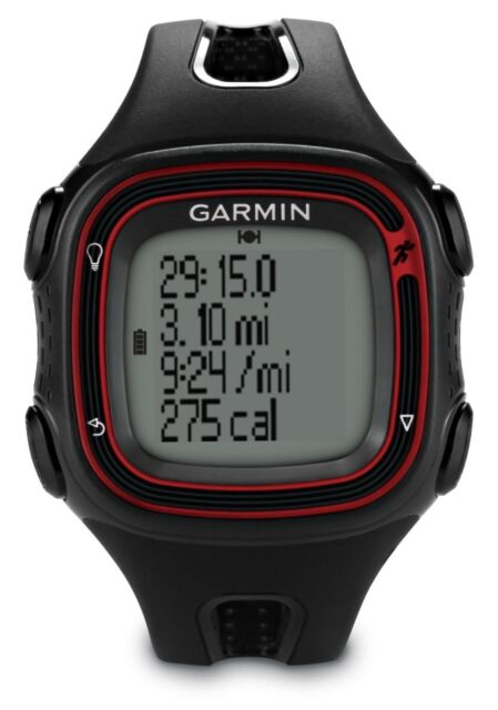 GARMIN Forerunner 10 GPS Sports/Running Watch BRAND NEW (Black/Red) 010-01039-03