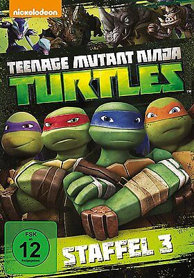 4 DVDs * TEENAGE MUTANT NINJA TURTLES - SEASON / STAFFEL 3 ~ MB # NEU OVP +