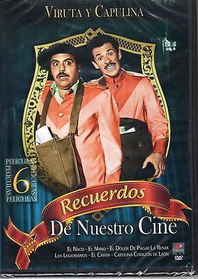 Viruta y Capulina DVD NEW 6 peliculas Recuerdos De Nuestro Cine NOW SHIPPING !