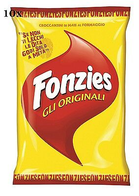 10x Fonzies - Maissnack Maischips mit Käse 40g (400gr) chips mais aus