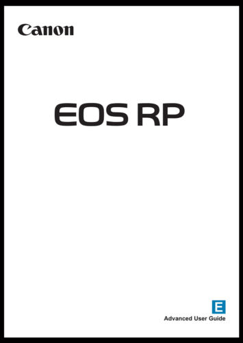 Canon EOS RP Instruction Owner User
