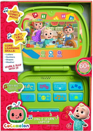 COCOMELON Sing and Learn Laptop  LIGHTS SOUNDS MUSIC - HOT TOY