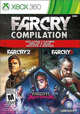 New  Far Cry Compilation  2  3  And Blood Dragon    Xbox 360
