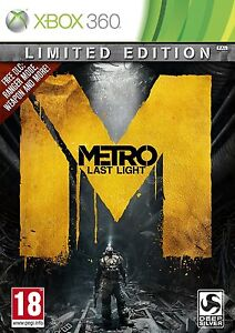LIMITED EDITION- Metro Last Light 2013 XBOX360 Game*FREE POST*Brand New & Sealed