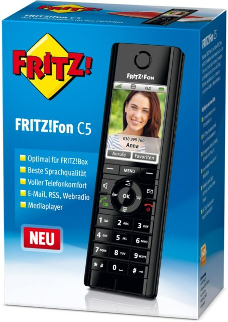AVM FRITZ!Fon C5 Telefon-Mobilteil, mit Ladeschale   Komfort-Schnurlostelefon