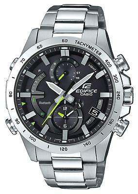 Mens Link Steel Watch - Casio EDIFICE EQB900D-1A Smartphone Link Solar Power Stainless Steel Mens Watch