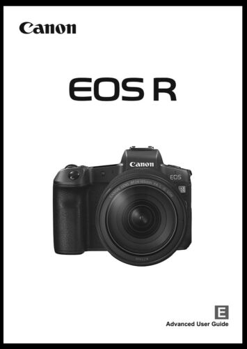 Canon EOS R Instruction Owner User