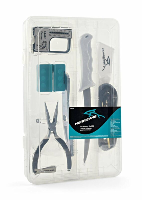 Hurricane Accessory Fishing Tool Kit - Knife Pliers Sharpener Scale Clipper