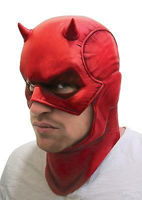 Daredevil Mask Marvel Superhero Fancy Dress Halloween Adult Costume Accessory