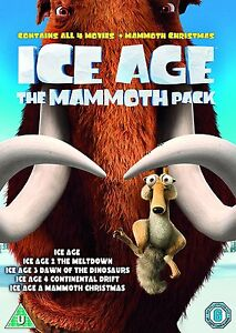 Ice Age 1 2 3 & 4 plus Mammoth Christmas: The Mammoth Collection | New | DVD