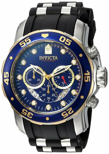 $79.99 - Invicta Men's 22971 Pro Diver Chronograph 48mm Blue Dial Steel-Rubber Watch