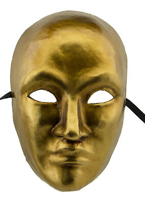Mask from Venice Face Man Volto Golden in Paper Mache 22341 VG21