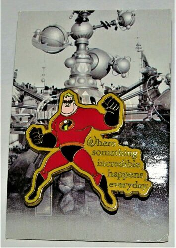 Disney Mr Incredible Where Something Incredible Happens Everyday Pin