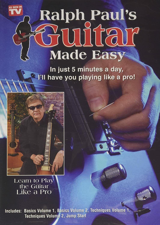 GUITAR  5 DVD SET INSTRUCTIONAL BASIC & TECHNIQUE RALPH PAUL'S GUITAR MADE EASY Instruction Books, CDs & Video