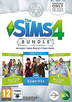 The Sims 4 Bundle Pack 7  Pc Dvd  Brand New Sealed Kids Vampires Backyard