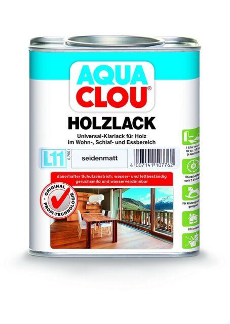 Clou L11 Aqua Clou Holzlack 250ml 750ml 2,5ltr Matt Seidenglanz Seidenmatt