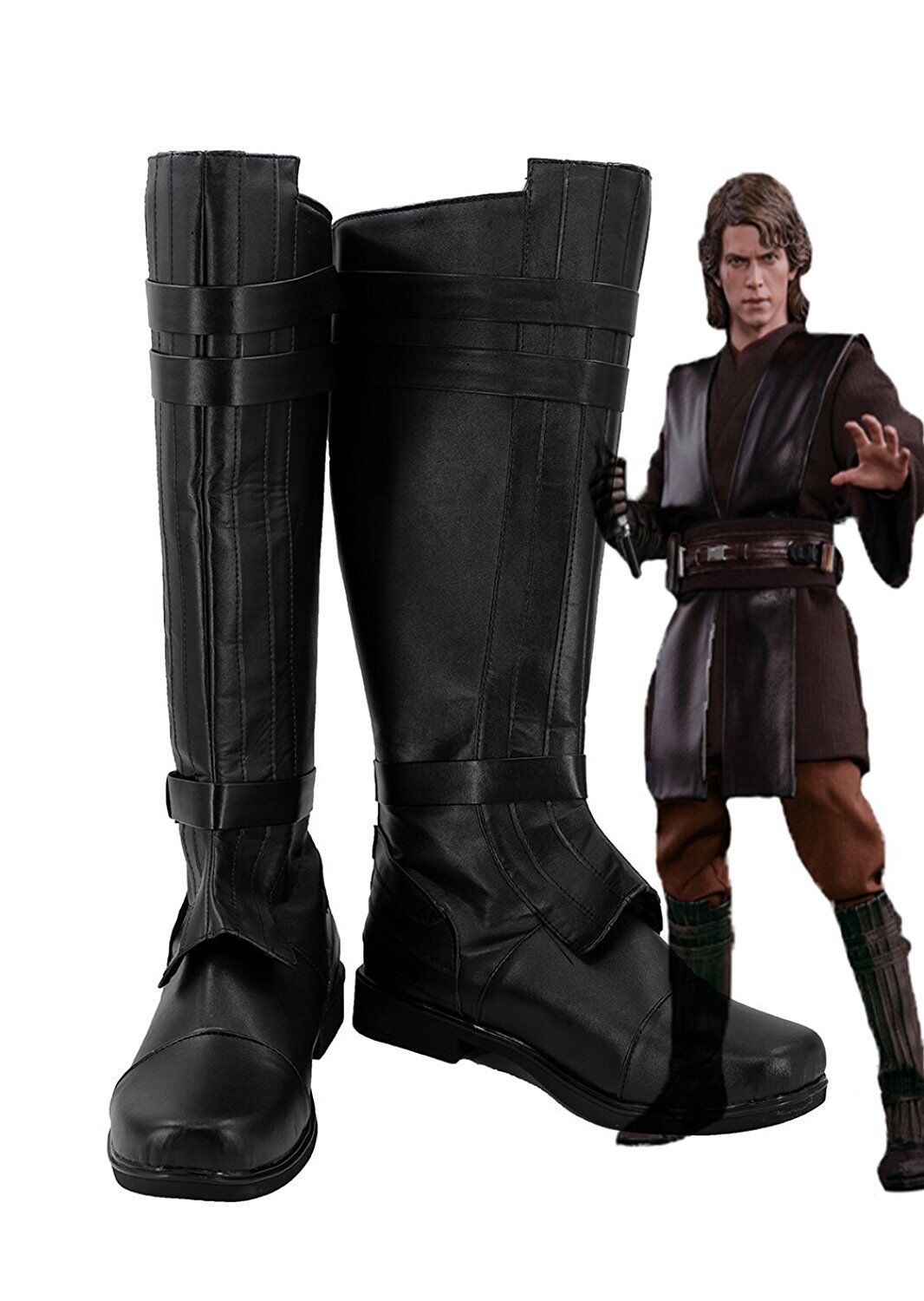 GSFDHDJS Cosplay Bottes Chaussures for Star Wars The Force Awakens Count Dooku