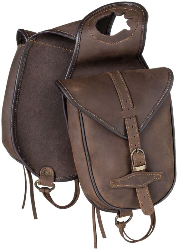 Western Soft Leather Saddle Horn Trail Bags