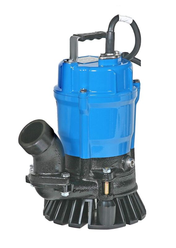 "Tsurumi HS2.4S-62, 2"" Submersible Trash Pump with Agitator, 53 GPM, 1/2 HP"